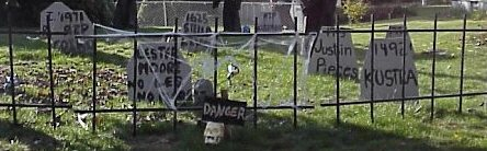 Simple cemetery fence